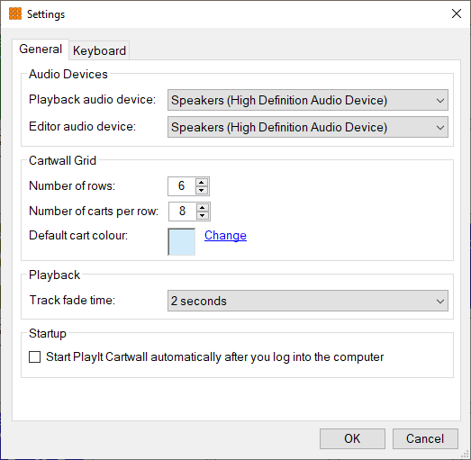 Configure the grid and audio devices.